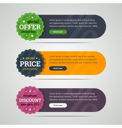 Rounded set of banners with labels vector image