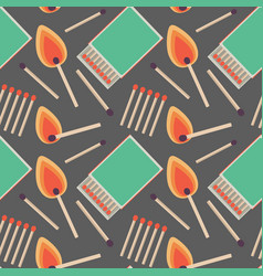 seamless pattern with flat matches vector image vector image
