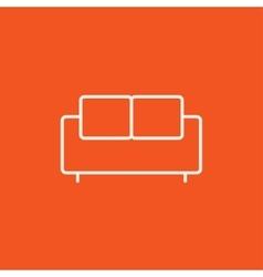 Sofa line icon vector image