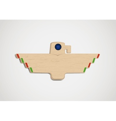 Wooden totem vector image