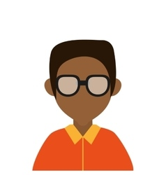 Dark skin faceless man portrait icon vector