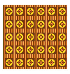 Ethnic fun pattern with brown orange and yellow vector