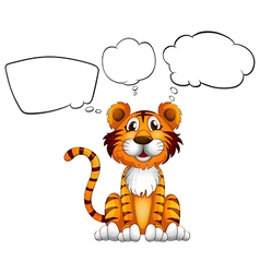 A tiger with empty callouts vector image