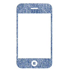 smartphone fabric textured icon vector image
