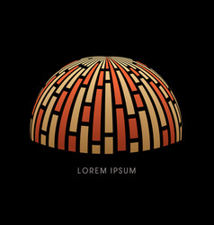 Luxury dome abstract construction vector