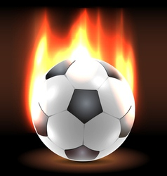 Burning soccer ball in the dark vector