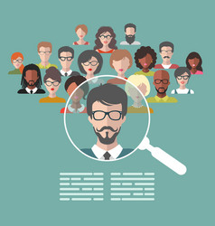 Human resources management vector