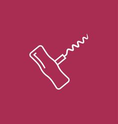 Corkscrew sign icon vector