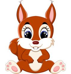 cartoon adorable squirrel vector image