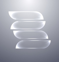 Design gray glass banners set vector image