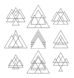 Set of trendy geometric shapes geometric hipster vector