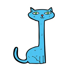 Comic cartoon cat vector