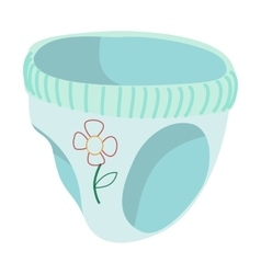 Baby pants cartoon icon vector
