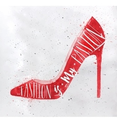 Poster high hill footwear red vector