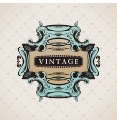Vintage decorative frame for text elements vector