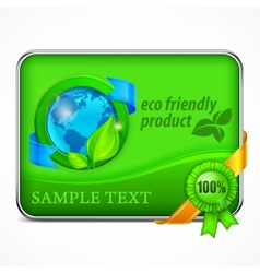 Eco friendly infographic in green vector