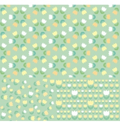 Pattern of spring tulip vector
