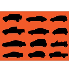 Cars silhouettes part 2 vector