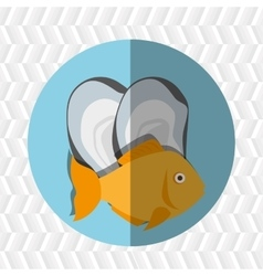 Seafood dinner design vector