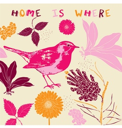 Home Bird Background Pattern vector image