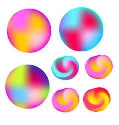 Abstract colorful liquid colors glowing circles vector