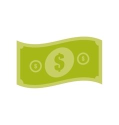 American dollar money bill vector