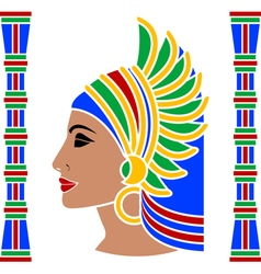 Ancient eastern woman vector