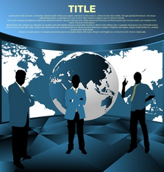business people template concept vector image