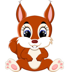 cartoon adorable squirrel vector image vector image