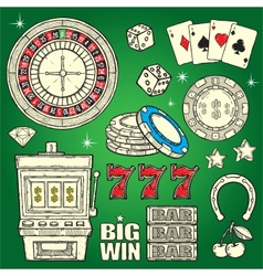 Casino Set vector image