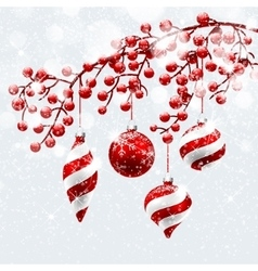 Christmas red decorations vector