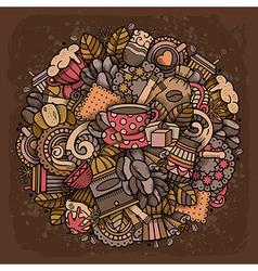 Coffee Doodle Design vector image vector image