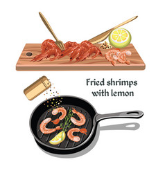 colorful sketch seafood concept vector image vector image