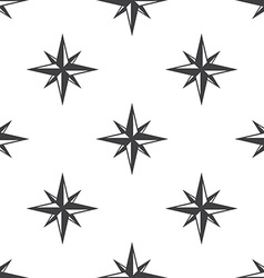 compass rose seamless pattern vector image