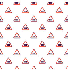 Crossing railroad barrier pattern seamless vector
