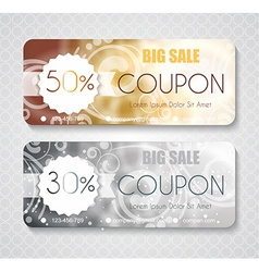 Discount coupon template with premium pattern vector