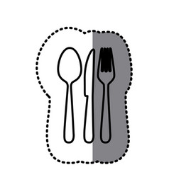 Figure cutlery tools icon vector