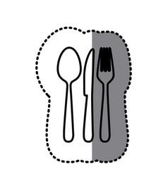 figure cutlery tools icon vector image vector image