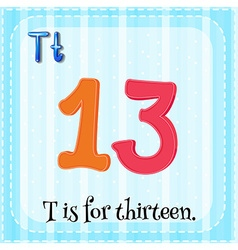 Flashcard of letter t vector