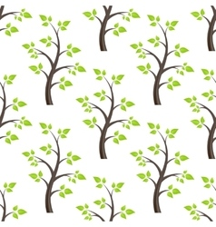 forest seamless isolated vector image