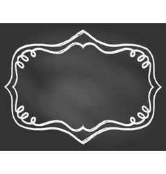 Frame on chalk borard vector