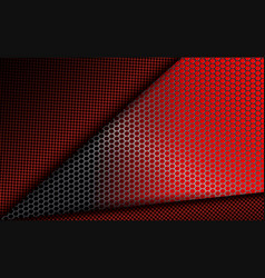 Geometric dark red background with metal grille vector