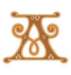 golden letter a vector image vector image