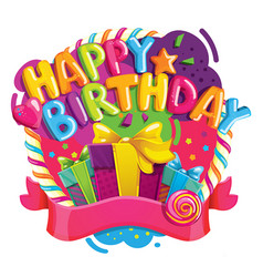happy birthday color vector image vector image