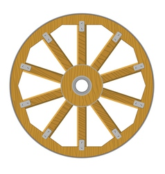 Image of a wooden wheel vector