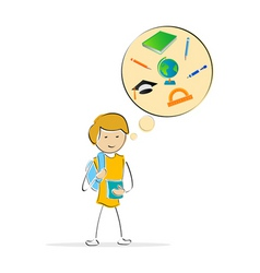 Kids thinking of school vector