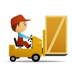 loader and box vector image