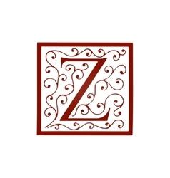 Logo design artistically drawn stylized vintage vector