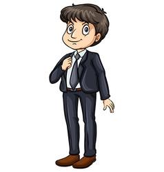 Man in a formal attire vector