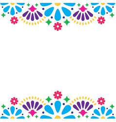 Mexican folk wedding or party invitation vector